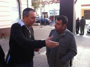 Joan Baldoví i Xavi Tro conversant