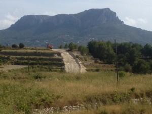 Obres del gasoducte a Benissa